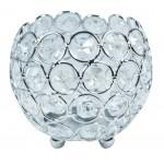 Świecznik z kryształkami