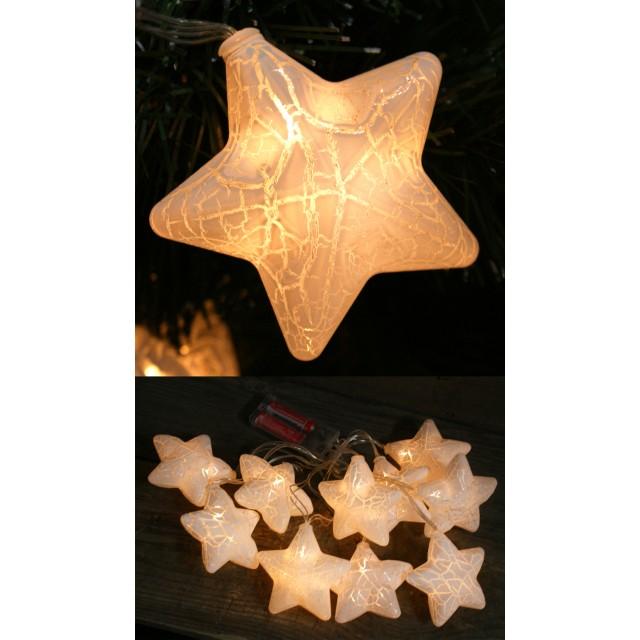 Lampki dekoracyjne - 10 gwiazdek