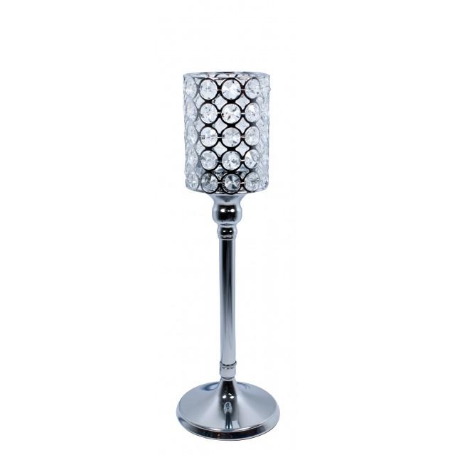 Świecznik z kryształkami VIDRIO 33 cm