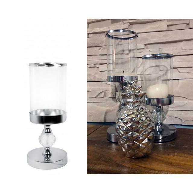 """Świecznik szklany """"GLAMOUR"""" 26 cm"""