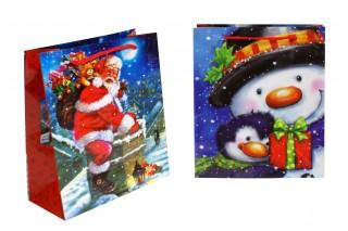 Torebka prezentowa świąteczna - 28*24*9 cm cm, kpl. 12 szt