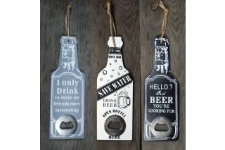 Dekoracja drewniana - otwieracz do butelek