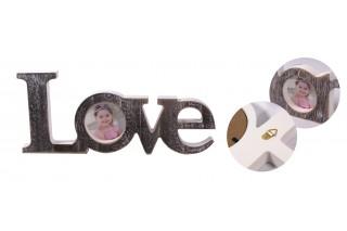 """Drewniana ramka na zdjęcie """"LOVE"""""""