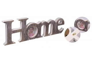 """Drewniana ramka na zdjęcie """"HOME"""""""