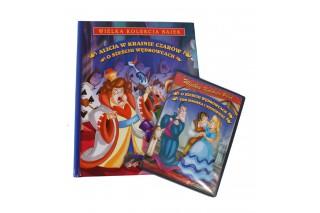 """Książka + bajka DVD """"Alicja w krainie czarów"""", """"O sześciu wędrowcach"""""""