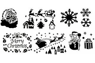 Dekoracja świąteczna - szablon