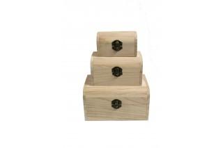 Komplet 3 szkatułek