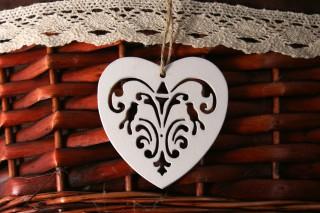 Drewniane serca kpl. 5 szt.