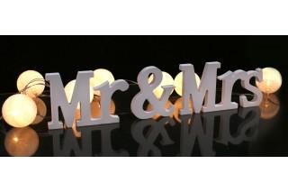 "Napis ""Mr&Mrs"""