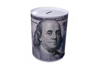 "Skarbonka metalowa ""USD"" 8/12,5 cm"