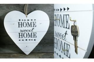 Dekoracja drewniana - wieszak na klucze