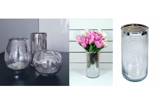 Świecznik / wazon szklany 20 cm