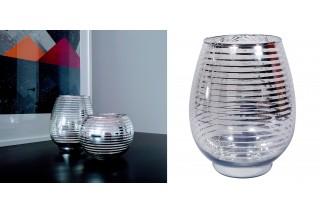 Świecznik szklany 18 cm