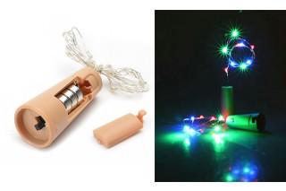 Lampki dekoracyjne z korkiem - 10 światełek