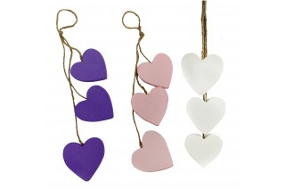 Zawieszka dekoracyjna - 3 serca