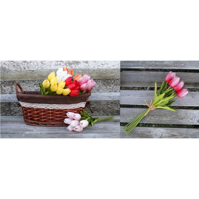 Bukiet kwiatów - Tulipany kpl. 7 szt - 32 cm
