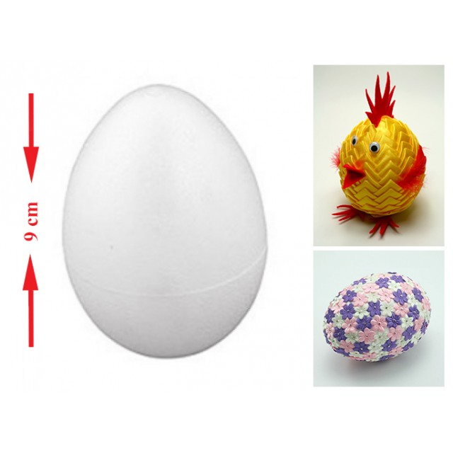 Jajko styropianowe 9 cm