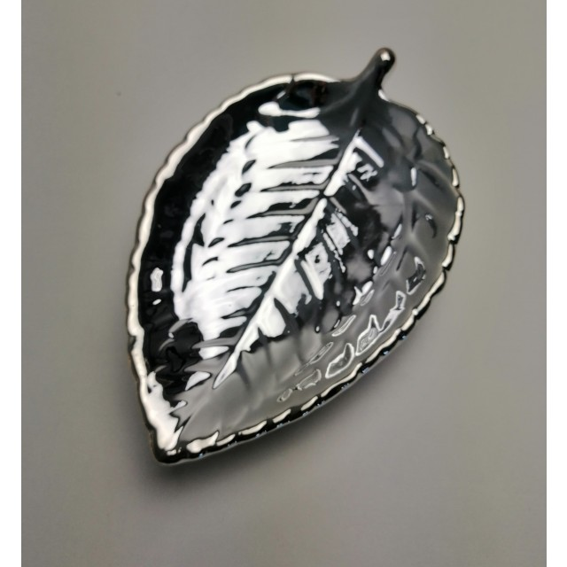 Podstawka ceramiczna srebrna 11cm/17cm