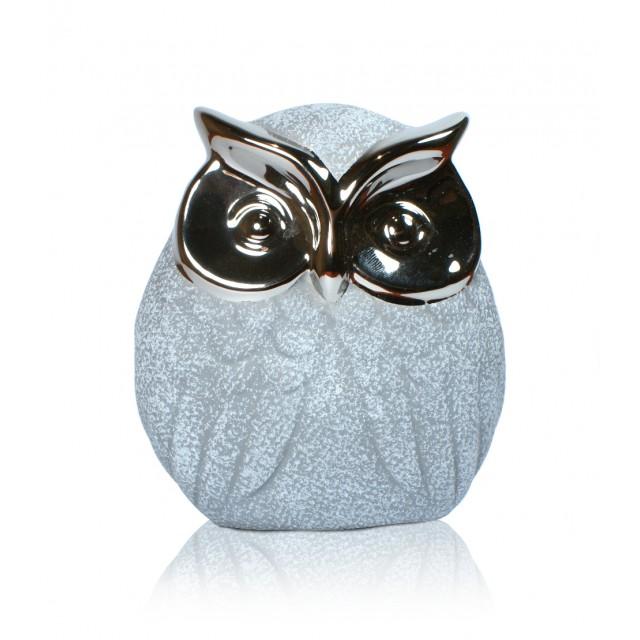Sowy - Figurki ceramiczne kpl. 6 szt.