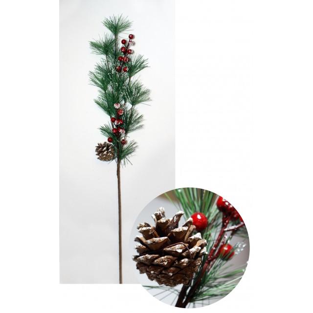 Gałązka świąteczna 65 cm