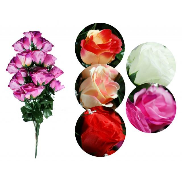 Bukiet sztuczny - Róże 18 kwiatów