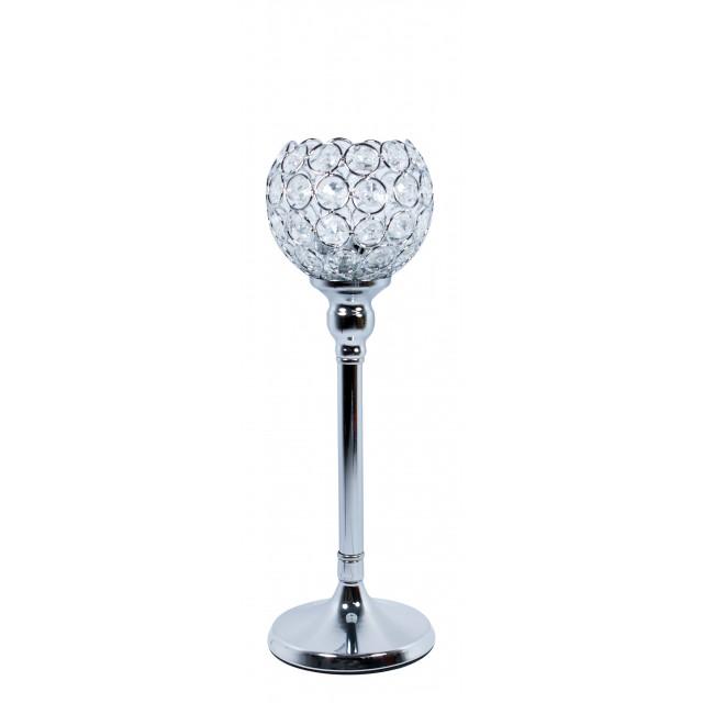 Świecznik z kryształkami  VIDRIO 31 cm