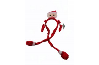Diadem/opaska na głowę z motywem świątecznym-Mikołaj