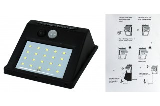 Lampka solarna z czujnikiem ruchu
