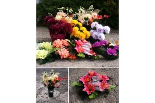 Kwiaty sztuczne - wianki i kompozycje w doniczkach (sprzedaż stacjonarna)