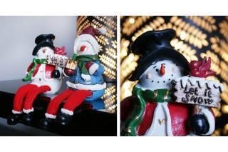 Figurki ceramiczne - Bałwanki kpl 2 szt.