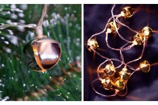Lampki na choinkę - 10 różowych dzwoneczków