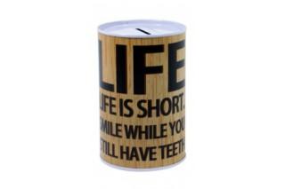 "Skarbonka metalowa 10/15 cm ""LIFE"""