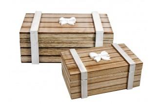 Szkatułki drewniane kpl. 2 szt.