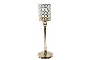 Świecznik z kryształkami VIDRIO 38 cm