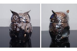 Świecznik ceramiczny - Sowa