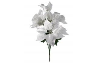 Gwiazda betlejemska 5 kwiatów - srebrna