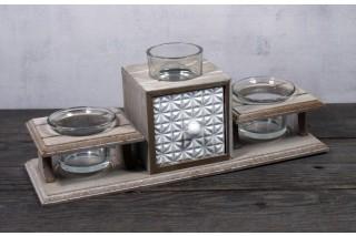 Zestaw świeczników  z szufladką