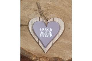"Drewniane serce ""Home sweet home"" 12/12 cm"