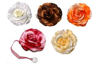 Klips dekoracyjny z kwiatem do firan kpl. 12 szt.