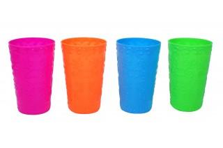 Kubki plastikowe kpl. 4 szt, 13 cm