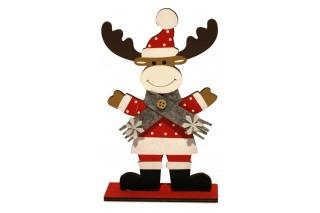 Drewniana dekoracja świąteczna - Renifer