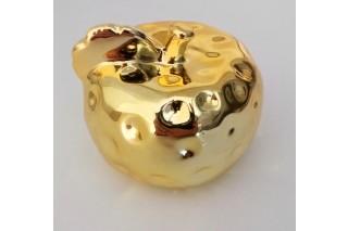 Figurka ceramiczna jabłko złote