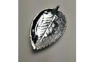 Podstawka ceramiczna srebrna 13cm/21cm
