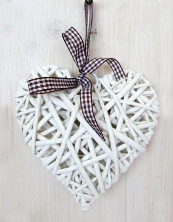 Serce wiklinowe 10/10 cm
