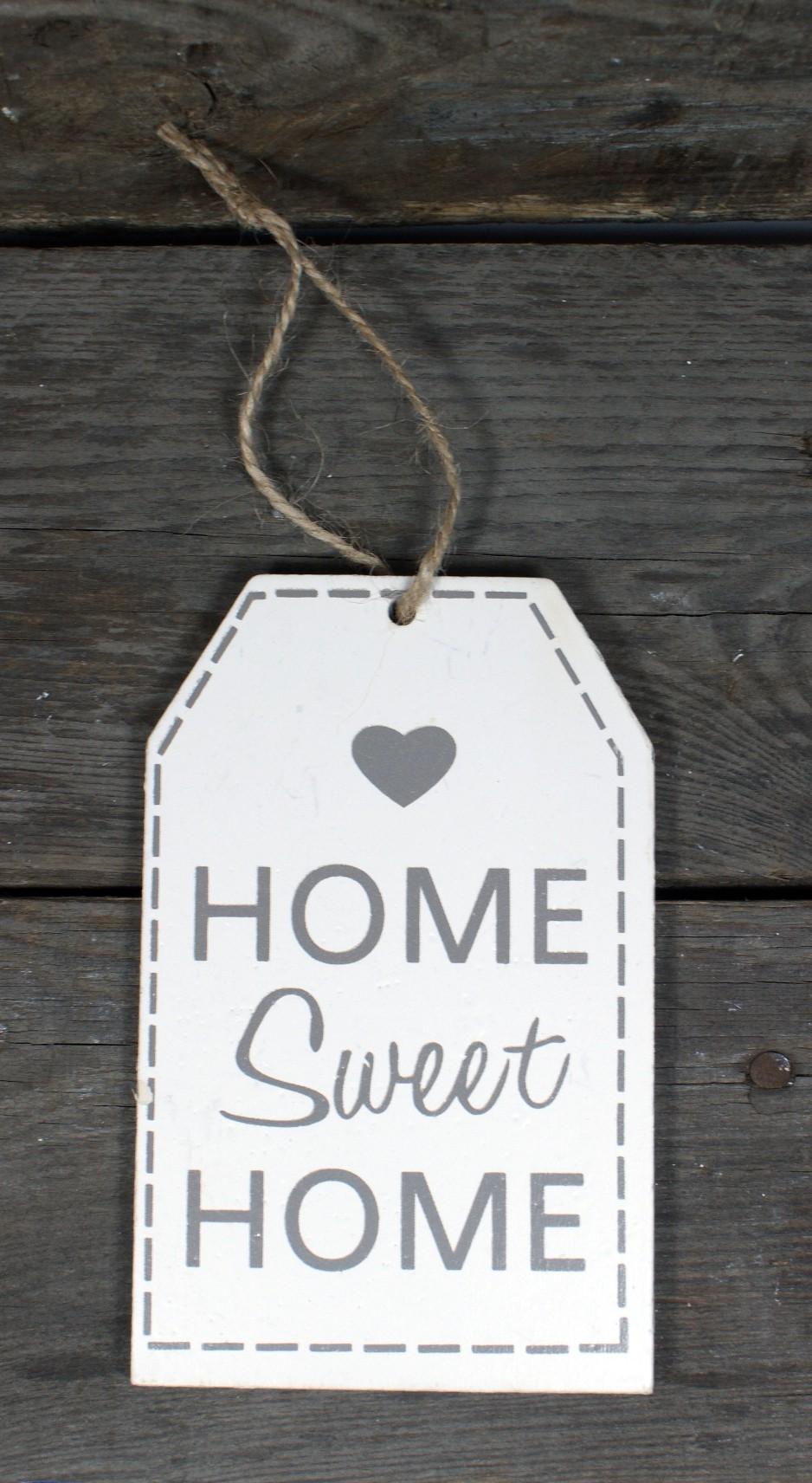 """Zawieszka drewniana """"HOME SWEET HOME""""14/9 cm"""