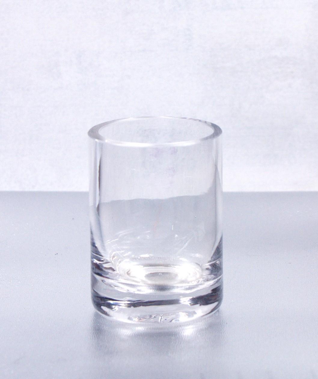 Świecznik szklany 8 cm